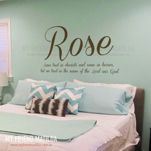 Image of ROSE Quote Lettering Wall Decal for Home & Nursery