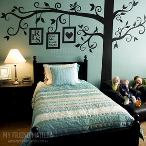 Image of Big Full Photo Frame Tree Wall Decal Sticker for Wall Corner