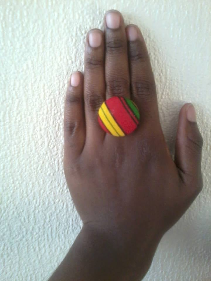Image of Vekras Red/Yellow/Green/Black Ring