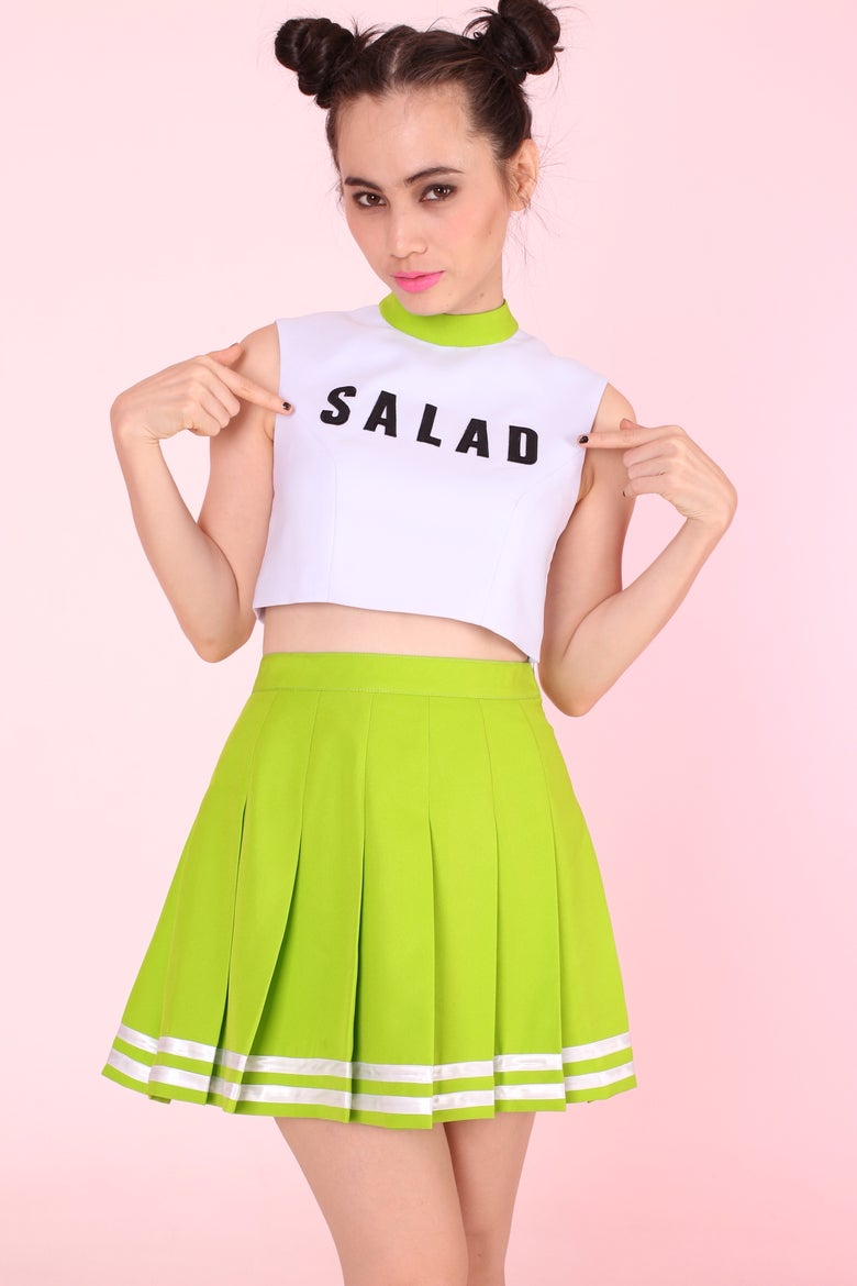 Image of MADE TO ORDER - TEAM SALAD Cheer Set (Top and Skirt)