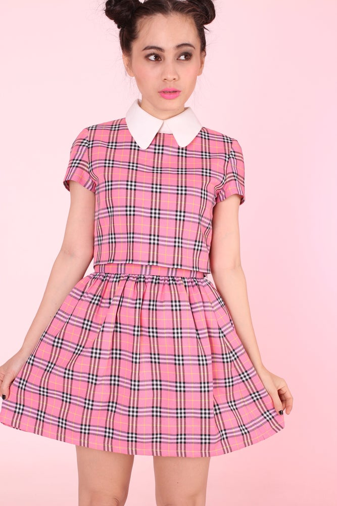 Image of PINK TARTAN CLUELESS INSPIRED SET