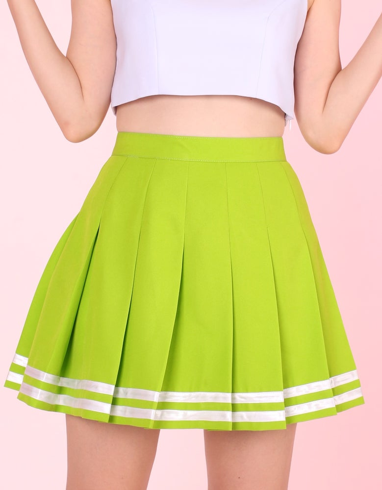 Image of GFD Green Cheerleading Skirt