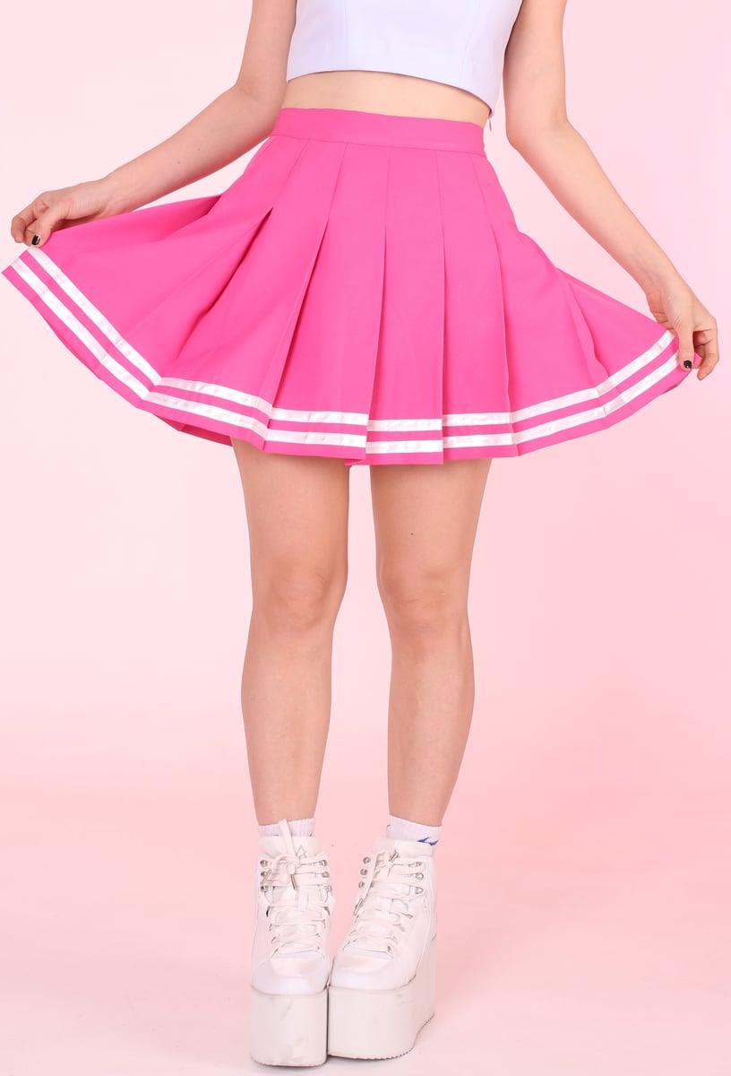 Gfd Pink Cheerleading Skirt Glitters For Dinner