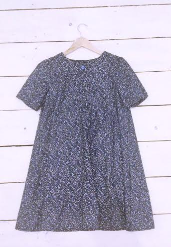 """Image of Blue Floral Ditsy Babydoll Dress """"ONE SIZE FITS ALL"""""""