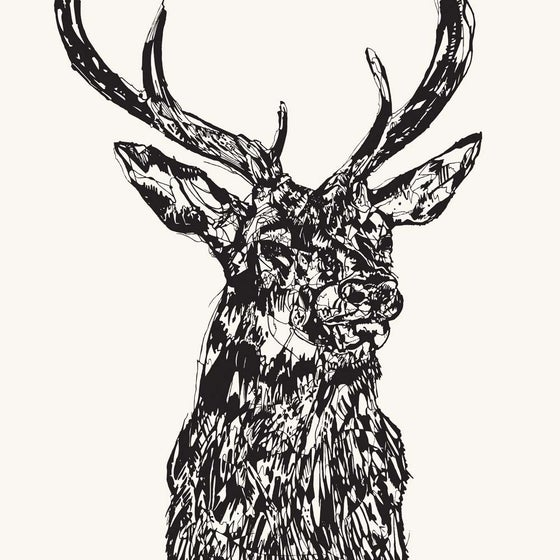 Image of STAG HEAD MMXIV screen print