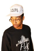 Image of White Lavish Habits 5 Panel Hat