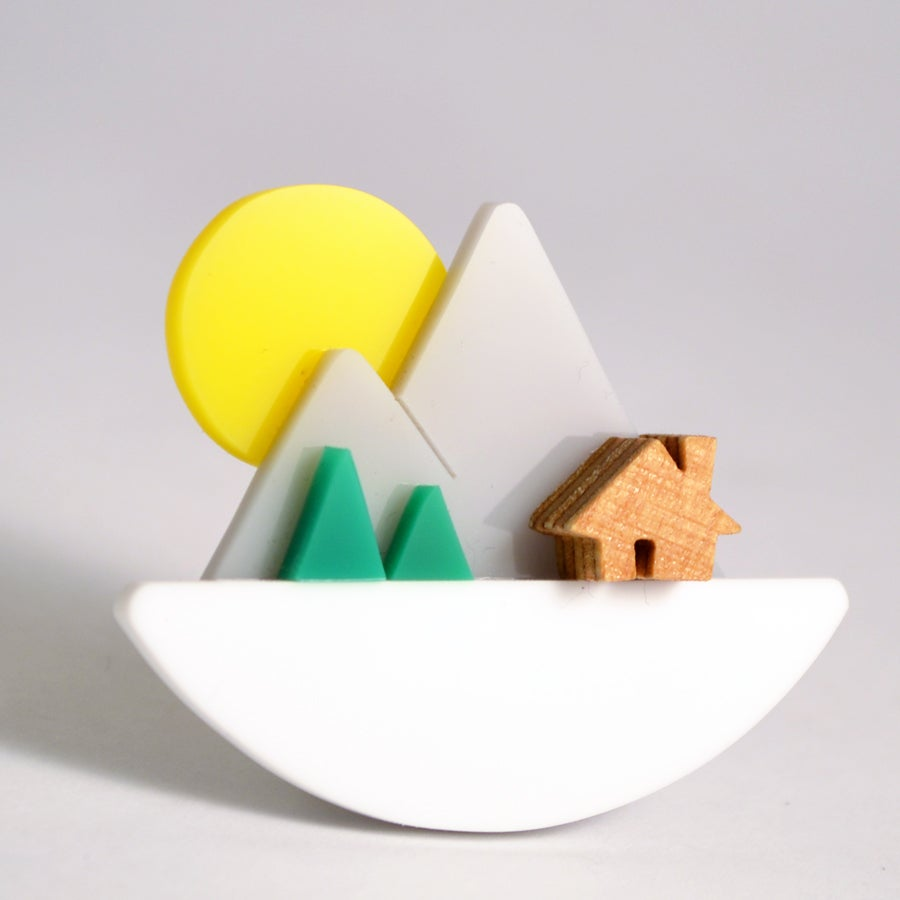 Image of Mountain Sunset Brooch
