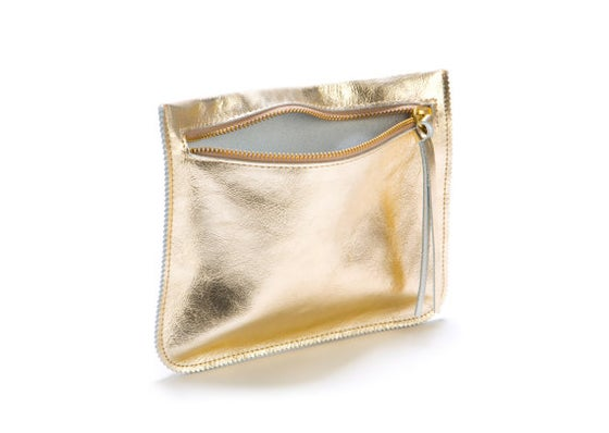 Image of Gold Metallic Leather Purse