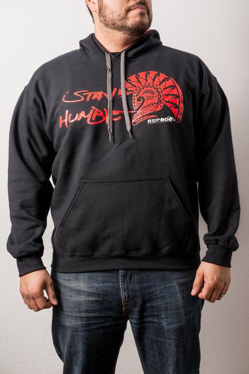 Image of Stay Humble Hoodie (Black/Red)