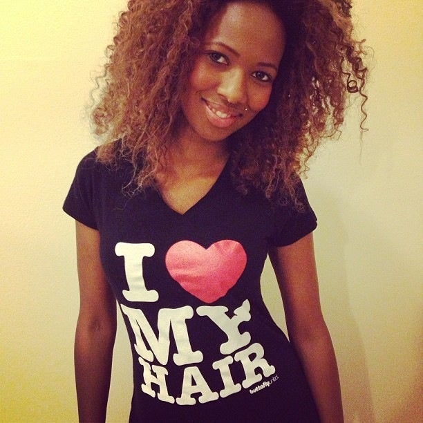 Image of I love My Hair- Black Vneck
