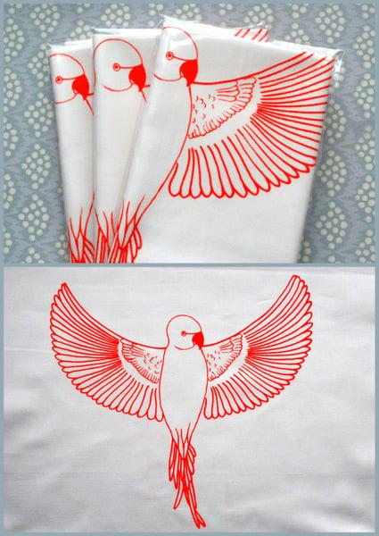 Image of Tryk til broderi, fugl - screenprint for embroidery, bird