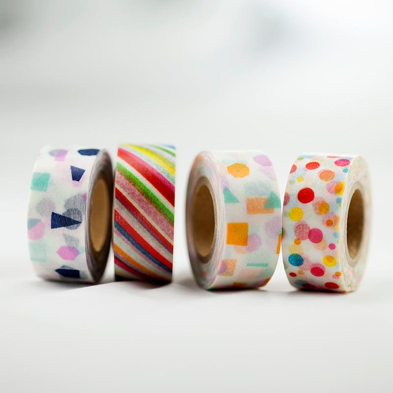 Image of Colorful Patterns Maste Washi Tape