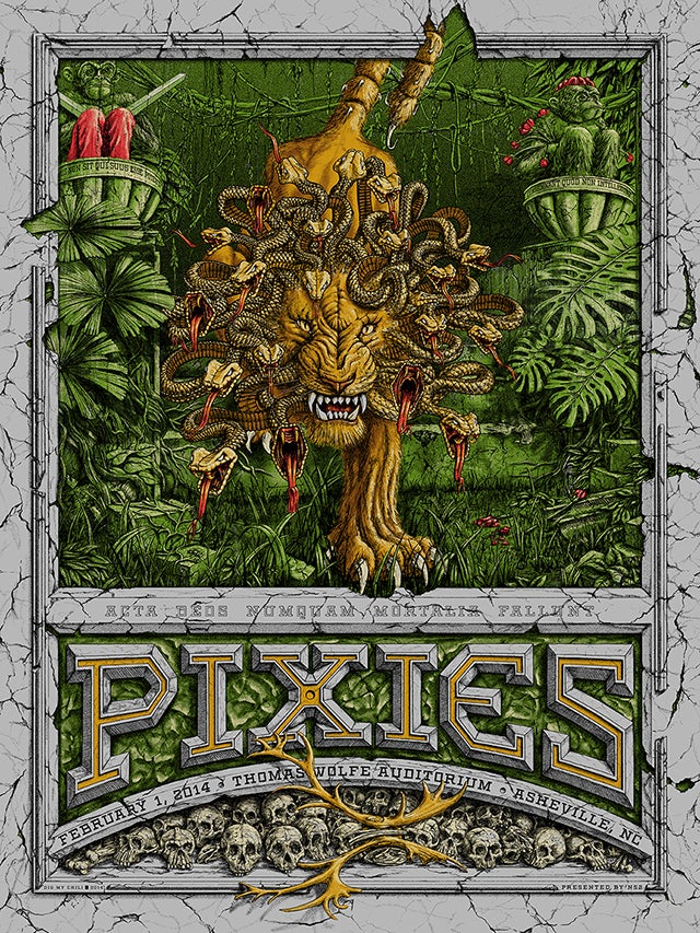 Image of Pixies Asheville, NC 2014