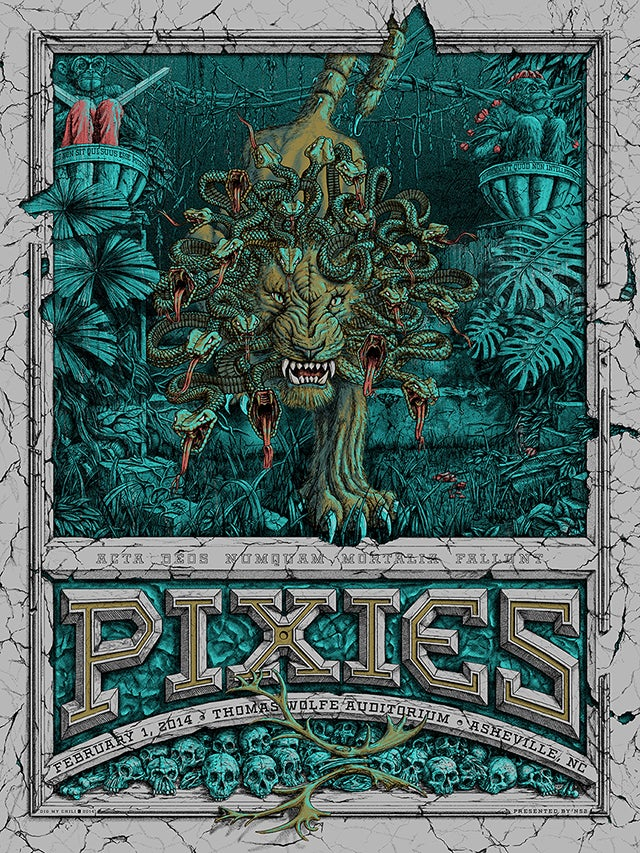 Image of Pixies Asheville, NC 2014-VARIANT