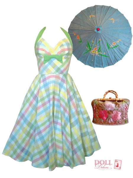 """Image of """"Picnic in Paradise"""" Halter dress"""