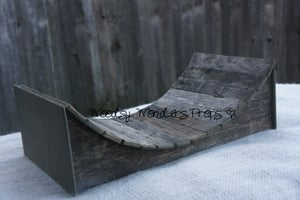 "Image of Another Woodsy Wonders Original Design! Not your ordinary Skate Board Ramp but a ""Baby Ramp"""