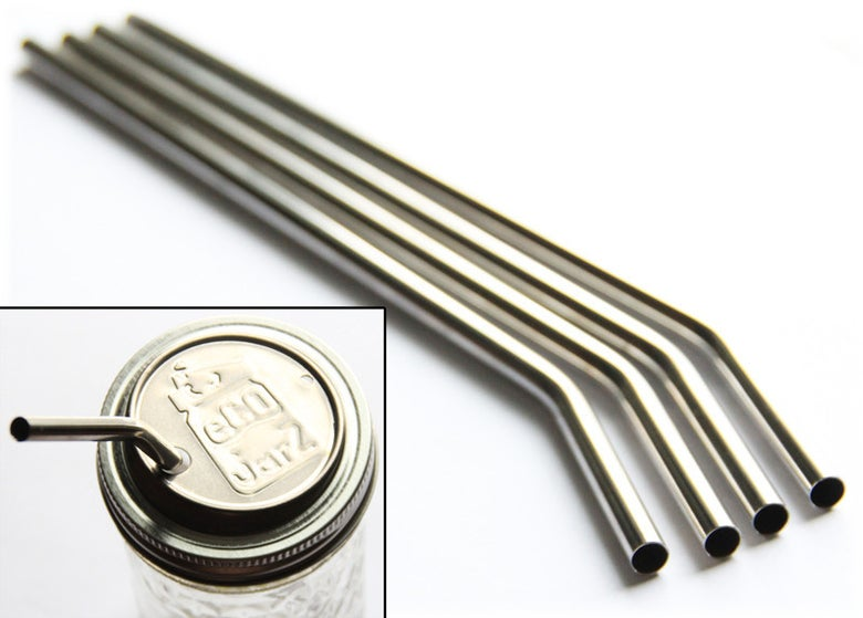 Image of Stainless Steel Straw - 4 pack