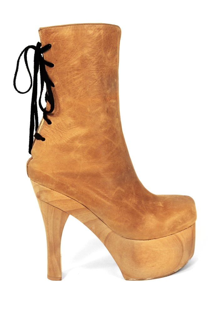 Image of London Platform Boot Camel