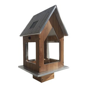 Teak Solar Feeder with Aluminum Roof