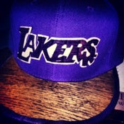 "Image of DISKO STARZonMARZ WOODWORKS ""LAKERWOOD"" SNAPBACK"