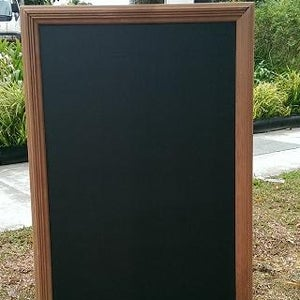 A1 Chalkboard with Solid Natural Corrugated Frame