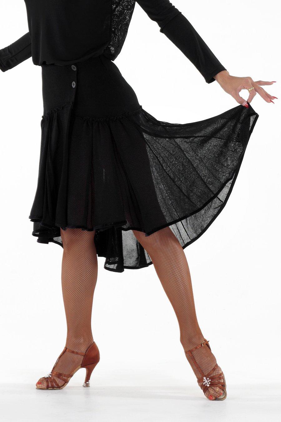 Image of Luxurious Knitted Circular Skirt JNS-101 Dancewear latin ballroom
