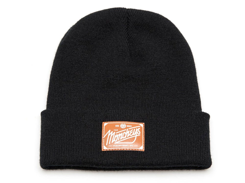 "Image of ""Pizza"" Beanie (Black)"