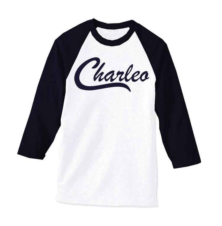 Image of The Original Charleo Raglan  Navy/White