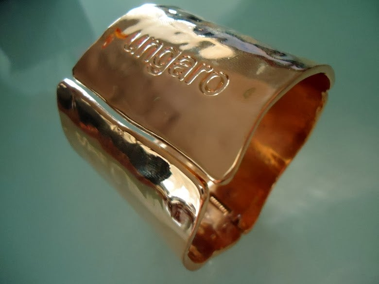 Image of SOLD OUT Emanuel Ungaro Paris Logo Gold Cuff