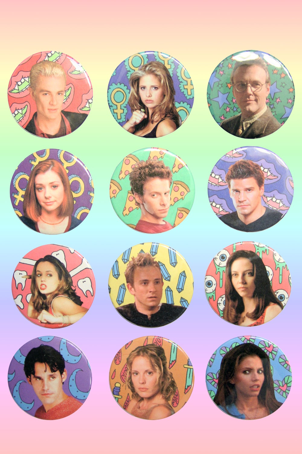 Image of BUFFY THE VAMPIRE SLAYER BUTTONS