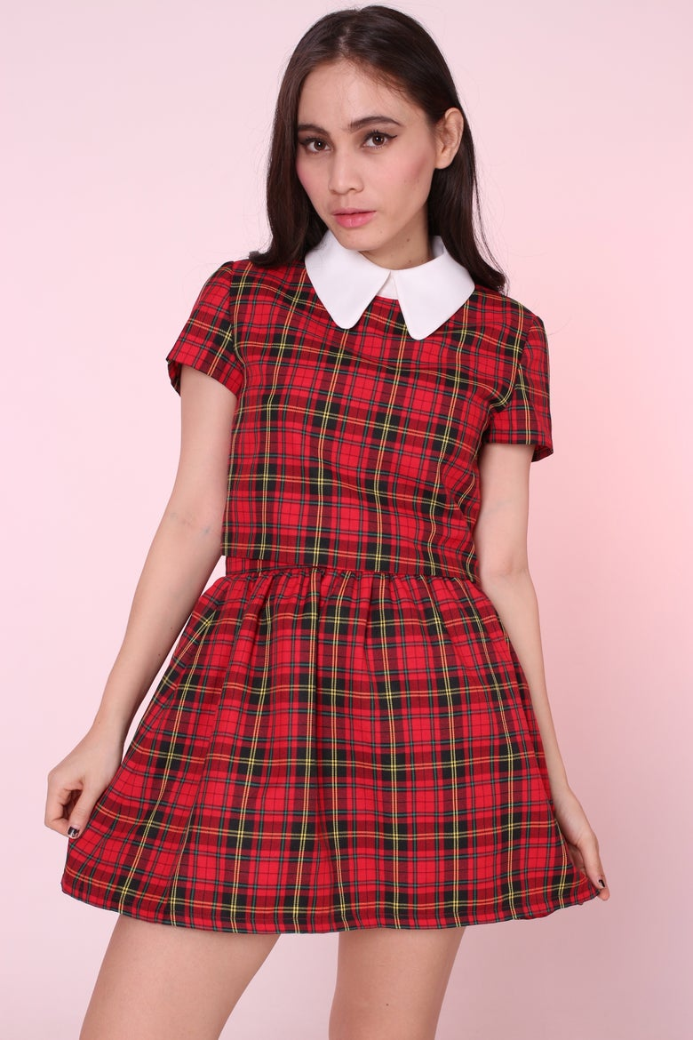 Image of  Clueless Tartan Set in Red
