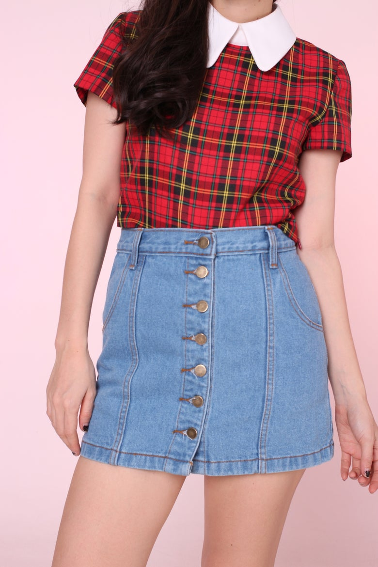 Image of 90s Inspired Denim Skirt