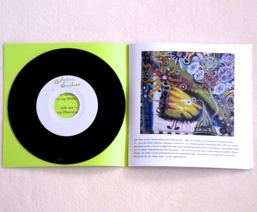 Image of JOSHUA BURKETT ~ XAVIER'S BIRDS ~ book & 7inch (TIME-LAG 059)
