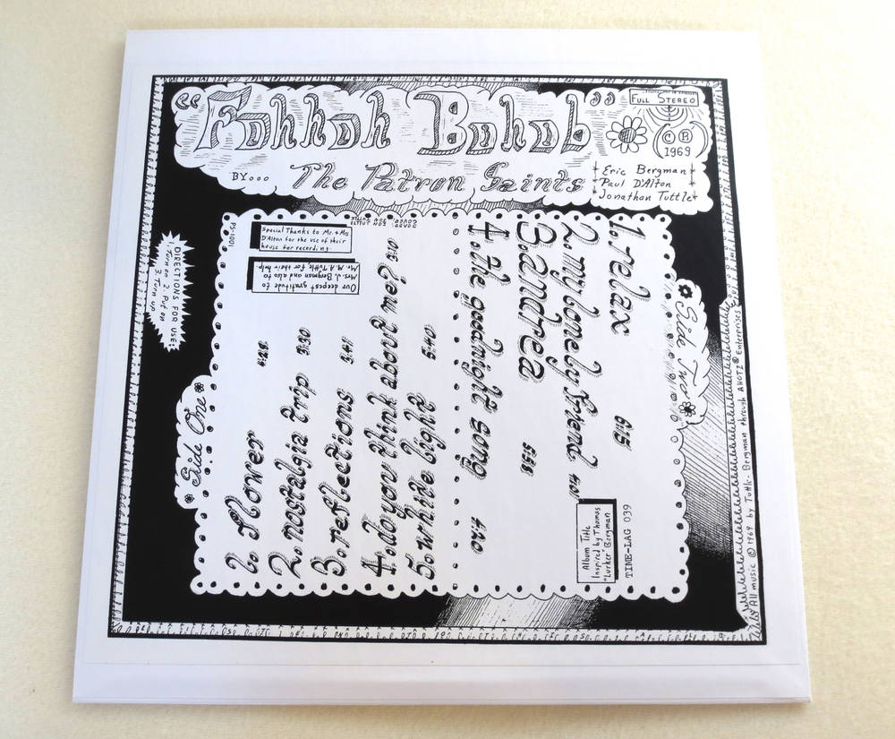 Image of THE PATRON SAINTS ~ FOHHOH BOHOB ~ lp & 7inch (TIME-LAG 039/040)