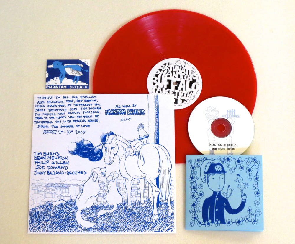 Image of PHANTOM BUFFALO ~ TAKE TO THE TREES ~ lp (TIME-LAG / RED RECORDS #3)