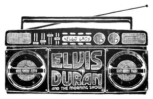 Image of Elvis Duran Tribute Woodblock