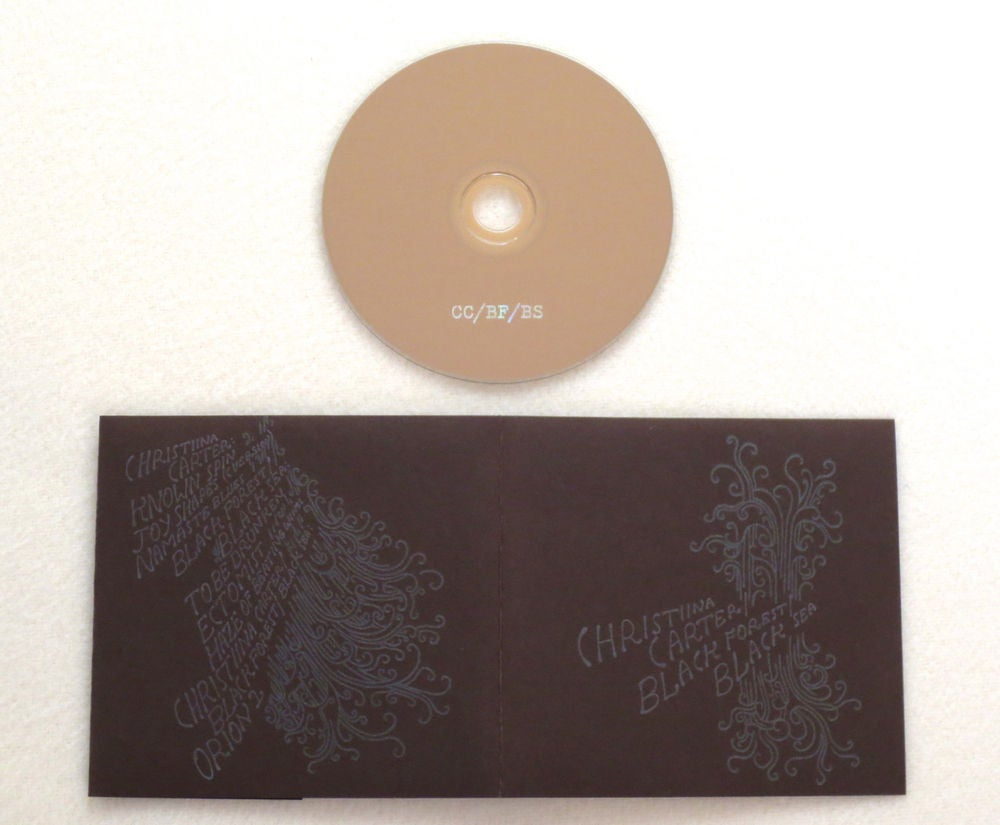 Image of CHRISTIINA CARTER / BLACK FOREST / BLACK SEA ~ UNTITLED ~ split cd (TIME-LAG 024)