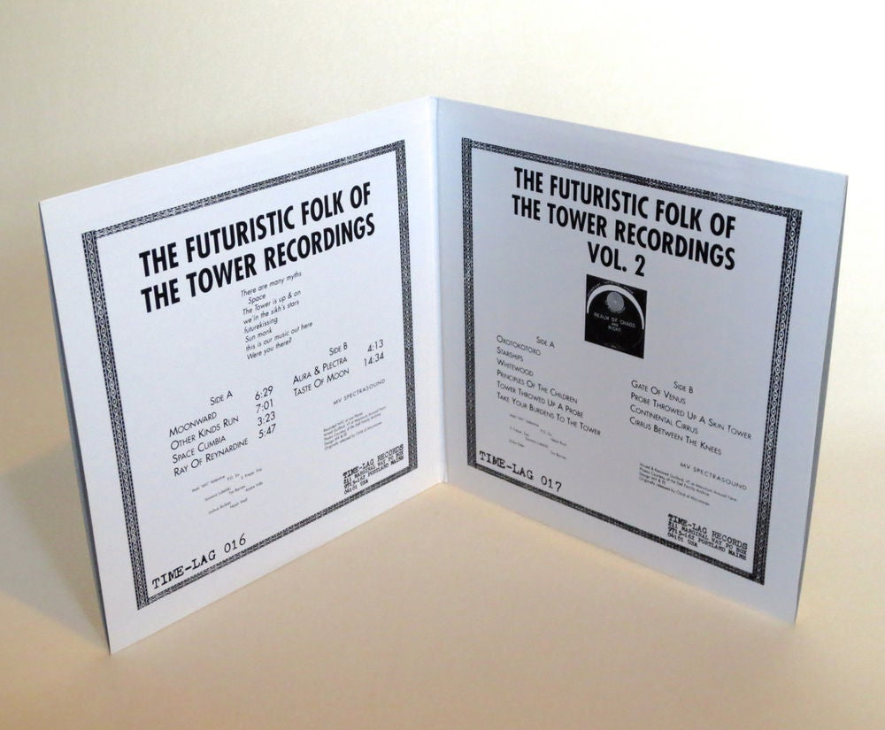 Image of THE TOWER RECORDINGS ~ THE FUTURISTIC FOLK OF THE TOWER RECORDINGS ~ 2lp (TIME-LAG 016/017)