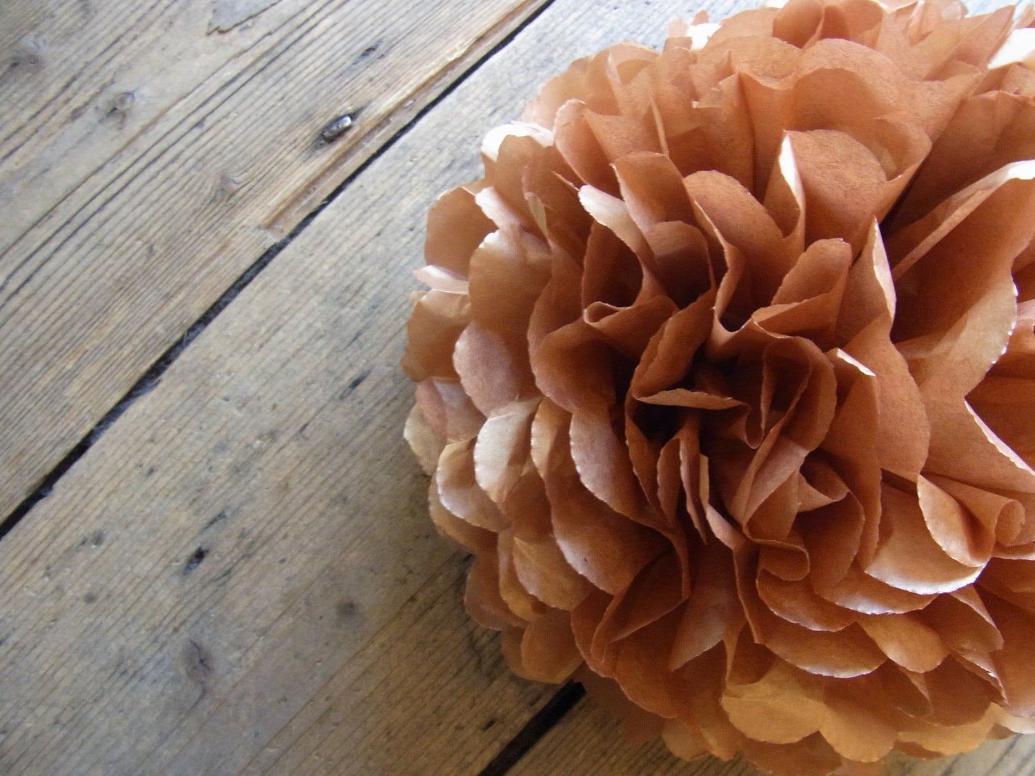 Image of Metallic Rose Gold Paper Pom