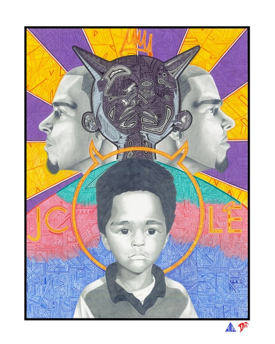 Image of 2014 - J. Cole Portrait
