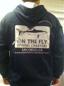 Image of Navy and grey hoodie