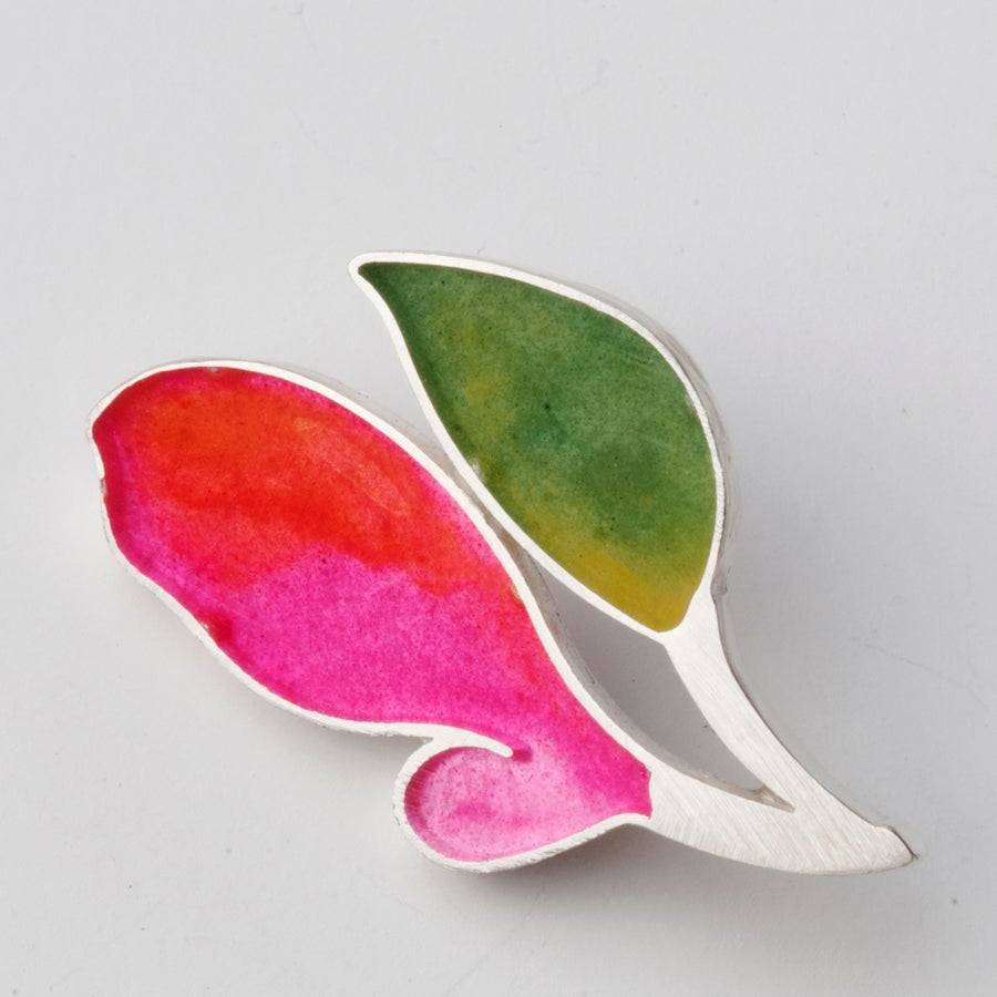 Image of  Resinate Nora green pinks Brooch