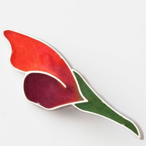 Image of Resinate Astra Pink Purple Green Brooch