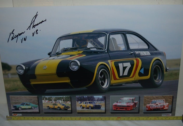 Image of Bryan Thomson. VW V8 Autographed photo collage.
