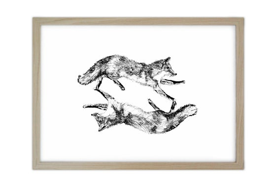 Image of Dancing Foxes Screen Print