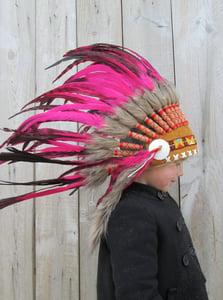 image de Coiffe indienne rose (sur commande)