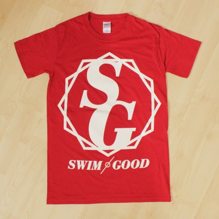 Image of Swim Good 'Crest' Shirt in Red *SUPER LIMITED STOCK*