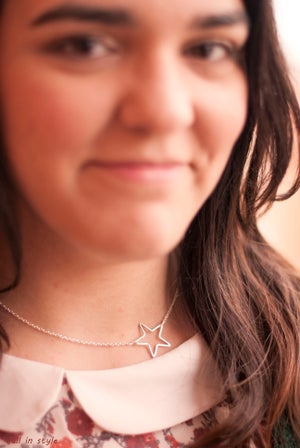 Image of Collar Delicate Star Plateado