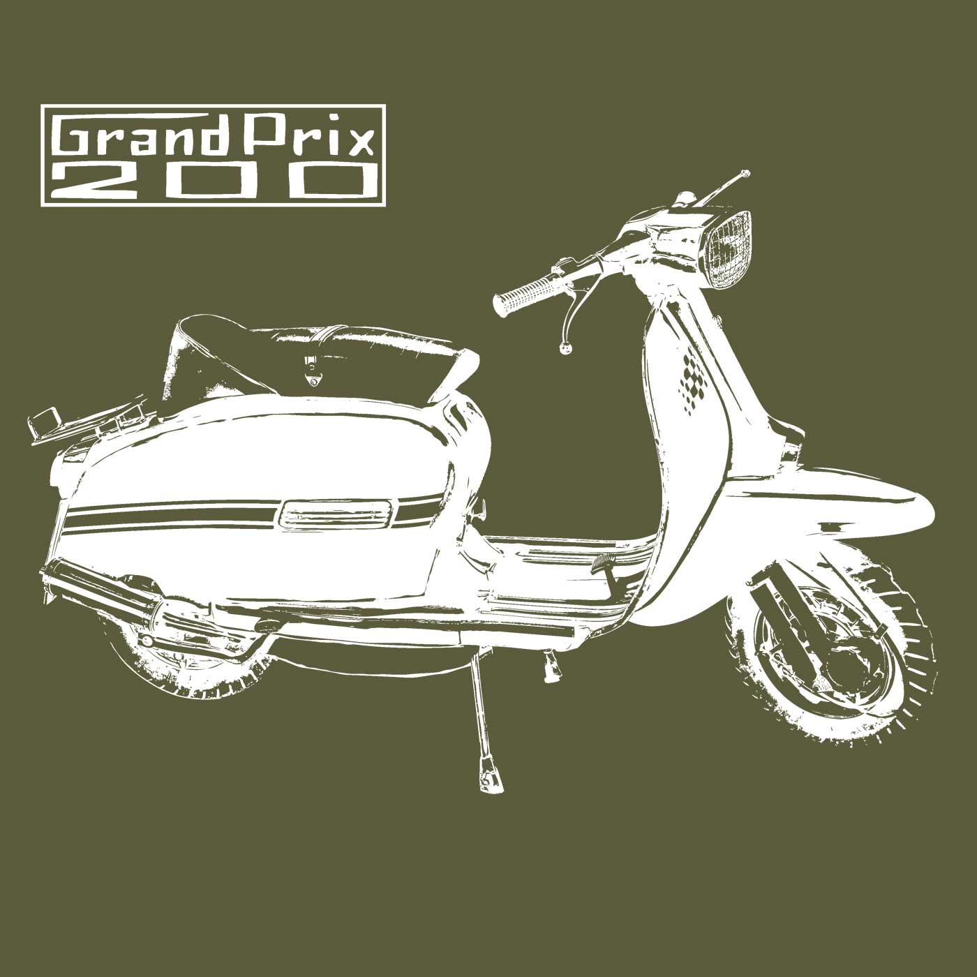 Image of GP 200 T SHIRT - MILITARY GREEN