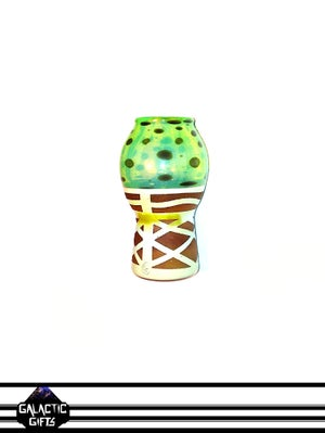 Image of Chad G Slyme Mint Chocolate Chip Ice Cream Cone Glass Sculpture